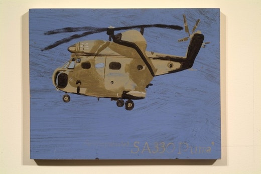 This is an artwork titled SA 330 PUMA by artist Martin McMurray made in 2002