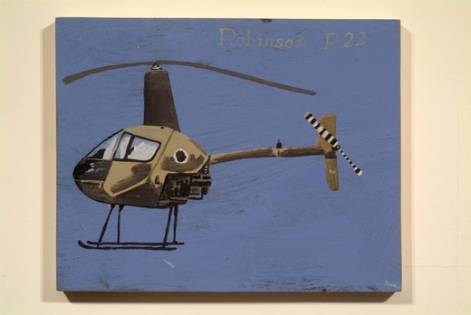 This is an artwork titled ROBINSON R22 by artist Martin McMurray made in 2002