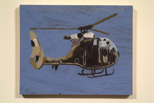This is an artwork titled SA 341 - 342 GAZELLE by artist Martin McMurray made in 2002