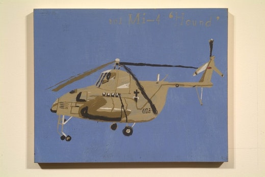 This is an artwork titled MIL MI-4 HOUND by artist Martin McMurray made in 2002