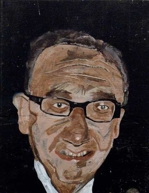 This is an artwork titled Dr. Kissinger by artist Martin McMurray made in 2003
