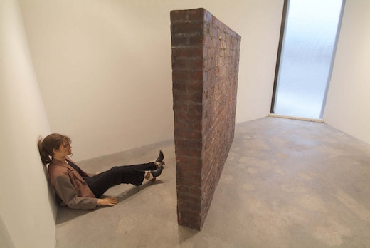 This is an artwork titled Wall-Pain-Thing by artist Mathilde ter Heijne made in 2005