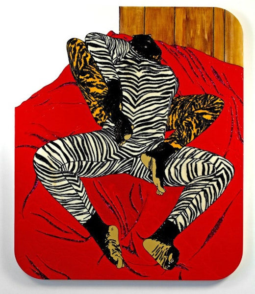 This is an artwork titled I Still Love You (You Still Love Me) (Brawlin' Spitfire Two) by artist Mickalene Thomas made in 2007