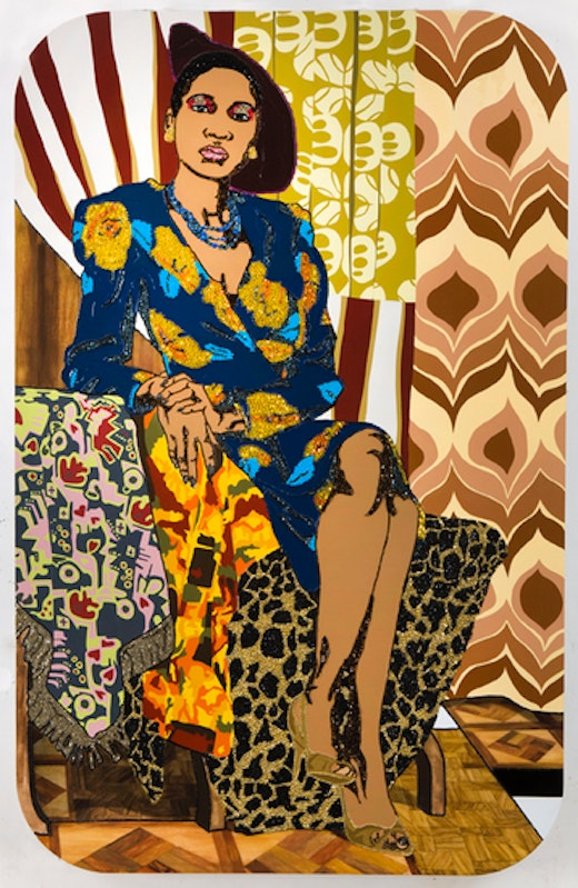 This is an artwork titled Untitled by artist Mickalene Thomas made in 2008
