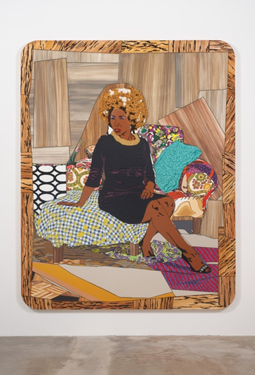 This is an artwork titled I Learned the Hard Way by artist Mickalene Thomas made in 2010