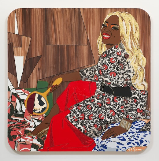 This is an artwork titled I'll Still Be True by artist Mickalene Thomas made in 2010
