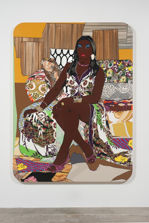 This is an artwork titled Love's Been Good To Me #1 by artist Mickalene Thomas made in 2010