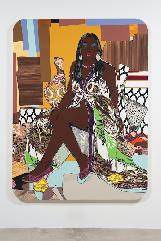This is an artwork titled Love's Been Good To Me #2 by artist Mickalene Thomas made in 2010
