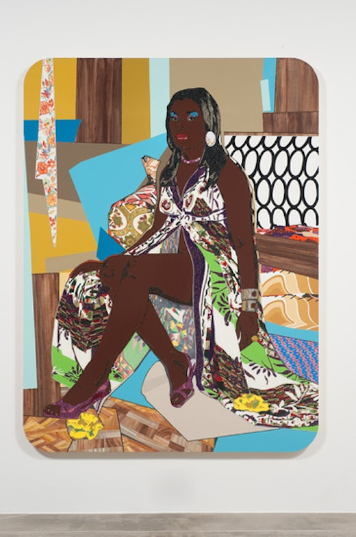 This is an artwork titled Love's Been Good To Me #3 by artist Mickalene Thomas made in 2010
