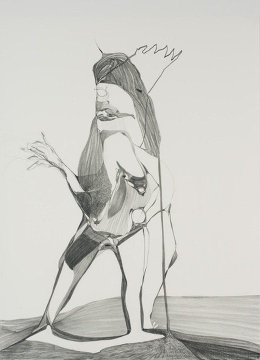 This is an artwork titled Graphite Drawing #1 by artist Nicola Tyson made in 2010