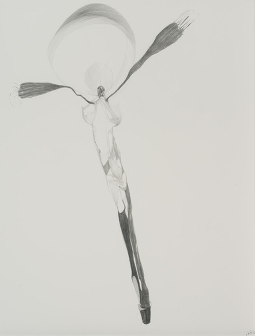 This is an artwork titled Graphite Drawing #2 by artist Nicola Tyson made in 2010