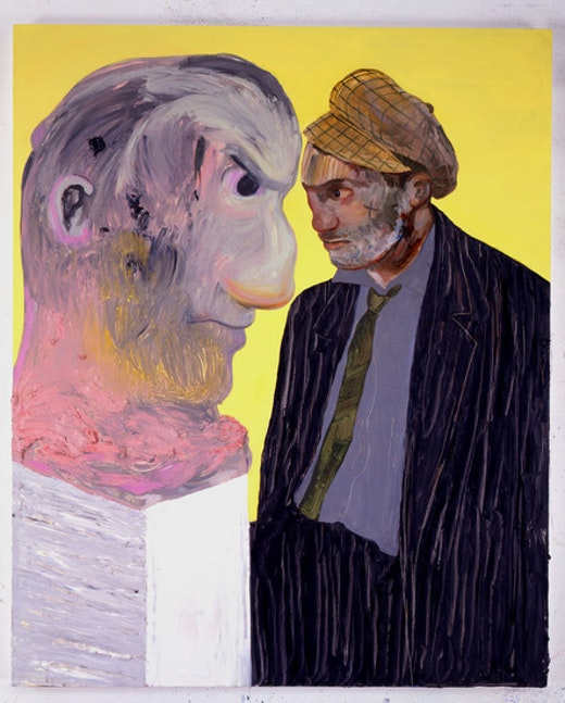 This is an artwork titled Untitled (Portrait of a Man Wolfie) by artist Nicole Eisenman made in 2007