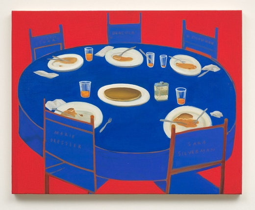 This is an artwork titled Pancake Dinner by artist Nicole Eisenman made in 2007