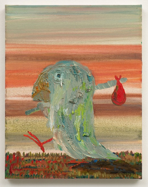 This is an artwork titled Foghorn Hits the Road by artist Nicole Eisenman made in 2007