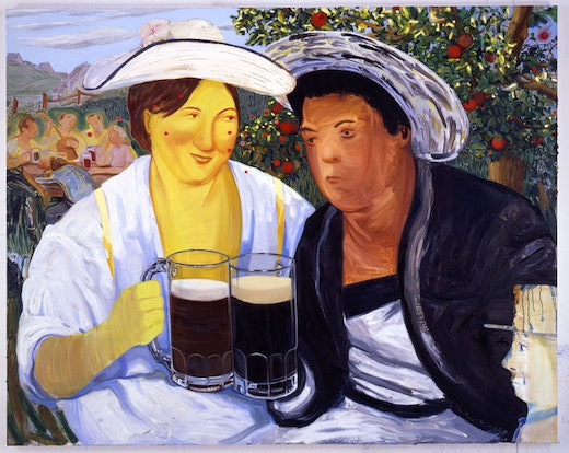 This is an artwork titled Beer Garden by artist Nicole Eisenman made in 2007