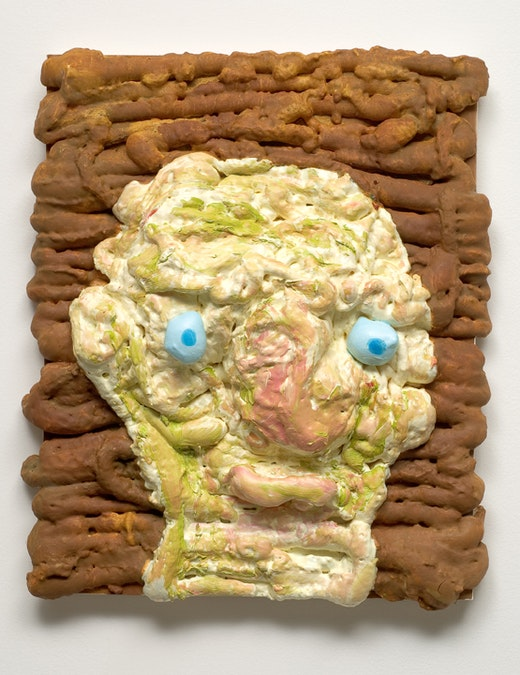 This is an artwork titled Small Thickest Painting by artist Nicole Eisenman made in 2007