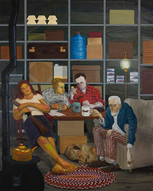 This is an artwork titled Tea Party by artist Nicole Eisenman made in 2011