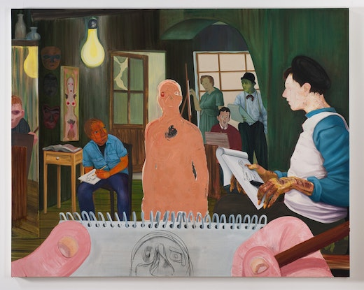 This is an artwork titled The Drawing Class by artist Nicole Eisenman made in 2011
