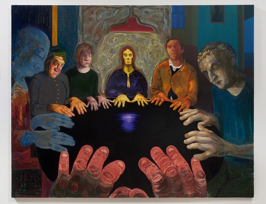 This is an artwork titled Seance by artist Nicole Eisenman made in 2011
