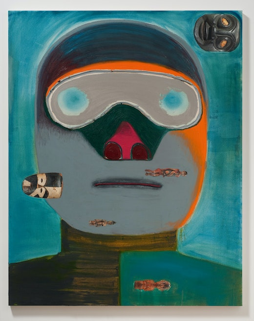 This is an artwork titled Guy Racer by artist Nicole Eisenman made in 2011