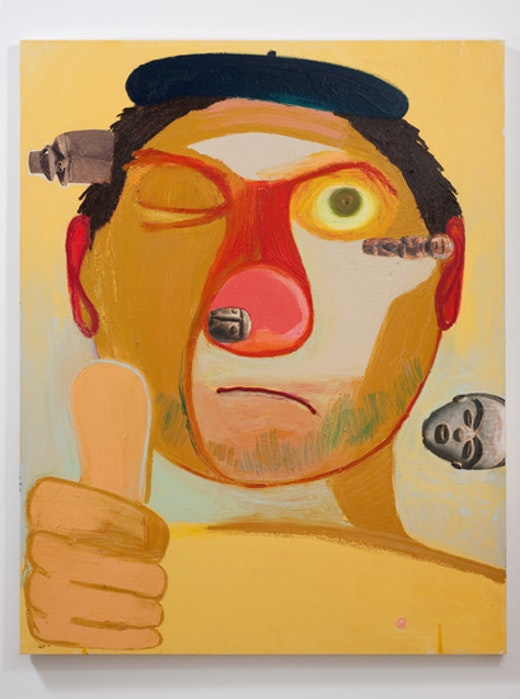 This is an artwork titled Guy Artist by artist Nicole Eisenman made in 2011
