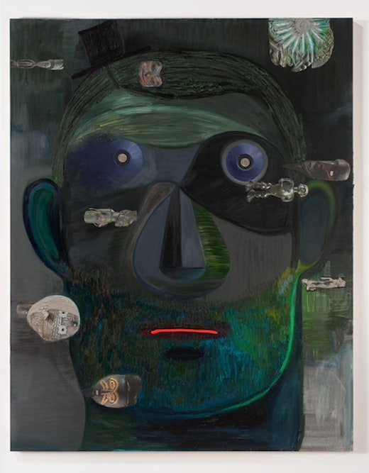 This is an artwork titled Guy Capitalist by artist Nicole Eisenman made in 2011