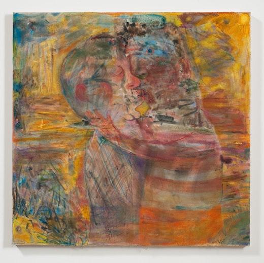 This is an artwork titled Yellow Beach Kiss by artist Nicole Eisenman made in 2011