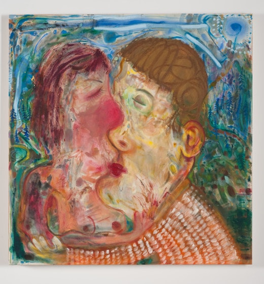 This is an artwork titled Springtime Kiss by artist Nicole Eisenman made in 2011