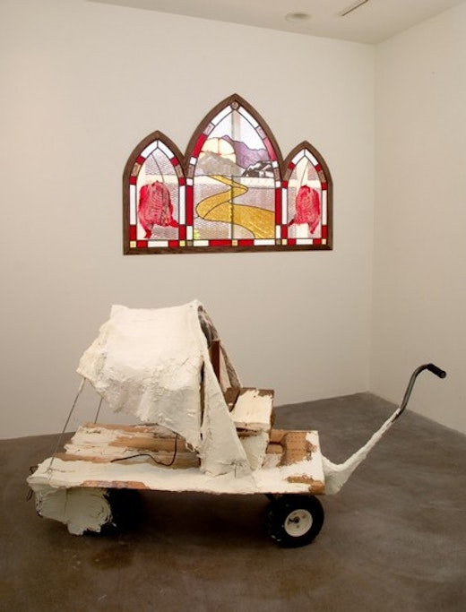 This is an artwork titled Installation View by artist Olga Koumoundouros made in 2008
