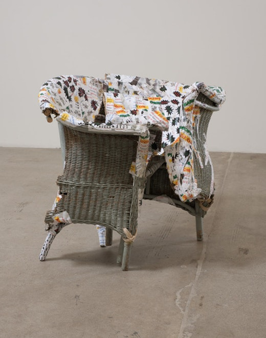 This is an artwork titled Hogtie by artist Olga Koumoundouros made in 2011