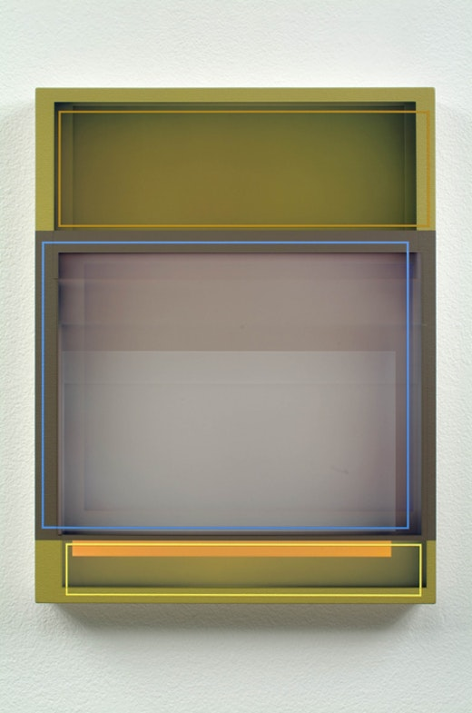 This is an artwork titled Green Gray Yellow by artist Patrick Wilson made in 2008