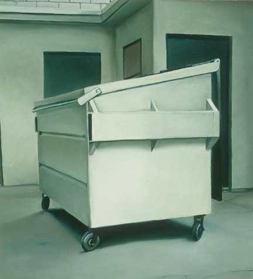This is an artwork titled Untitled (White Dumpster, Light View) by artist Robert Olsen made in 2004