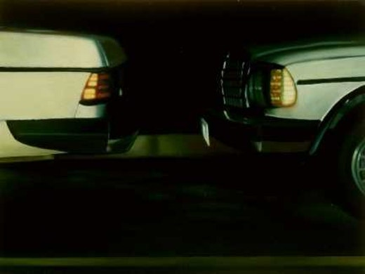 This is an artwork titled The Distance Between Two Cars, version II by artist Robert Olsen made in 2003