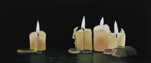 Robert Olsen Four Bee's Wax Candles (Version 1), 2008-09