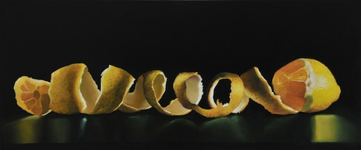 This is an artwork titled Lemon with a Very Long Rind by artist Robert Olsen made in 2009