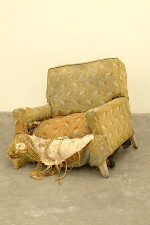 This is an artwork titled Chair by artist Rodney McMillian made in 2003
