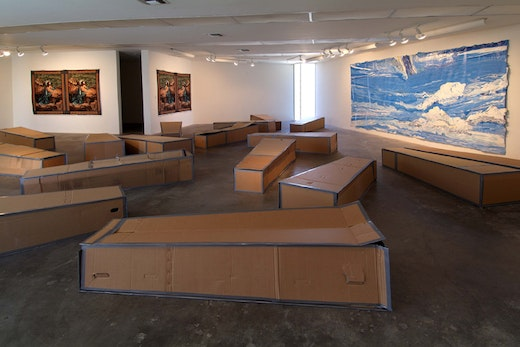 This is an artwork titled Installation View by artist Rodney McMillian made in 2006