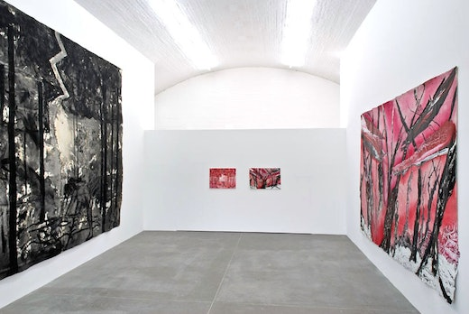 This is an artwork titled Installation View by artist Jutta Koether, Rodney McMillian made in 2007