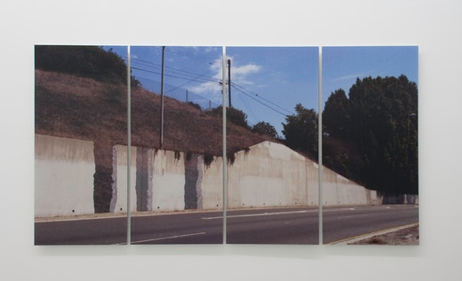 This is an artwork titled What if walls vanished from the freeway, would it make a sound? by artist Ruben Ochoa made in 2007