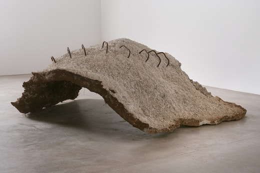 This is an artwork titled Grounded by artist Ruben Ochoa made in 2010
