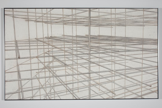 This is an artwork titled Existing Somewhere in Between Invisible Lines by artist Ruben Ochoa made in 2010