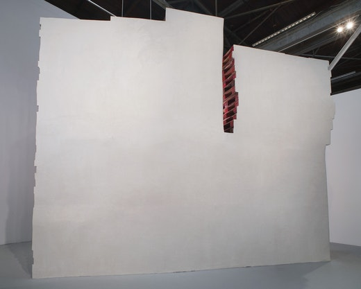 This is an artwork titled Bleeding from the inside, sprawling on the outside by artist Ruben Ochoa made in 2010