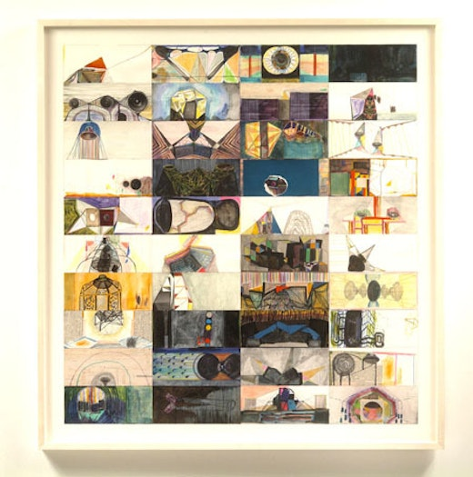 This is an artwork titled continuous moments by artist Steve Roden made in 2006