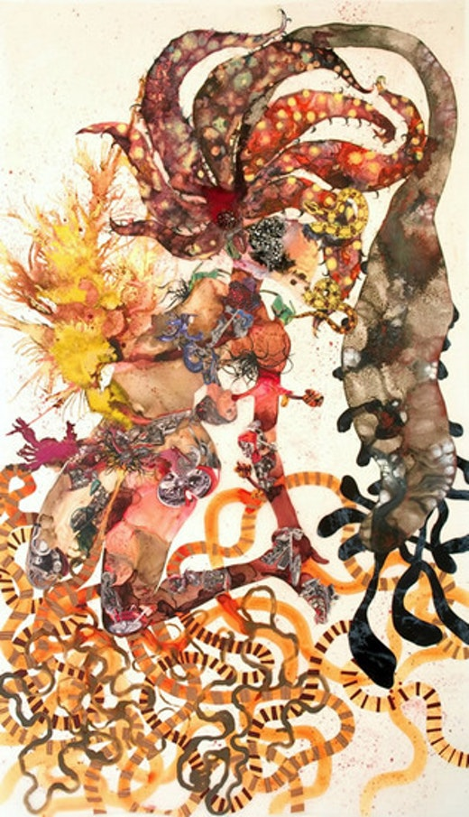 This is an artwork titled Agave you by artist Wangechi Mutu made in 2008