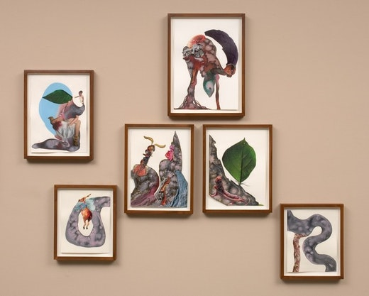 This is an artwork titled A bend in her river by artist Wangechi Mutu made in 2008