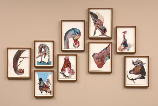 This is an artwork titled Eat Drink Swan Man by artist Wangechi Mutu made in 2008