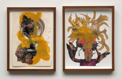 This is an artwork titled You can't fly by artist Wangechi Mutu made in 2008