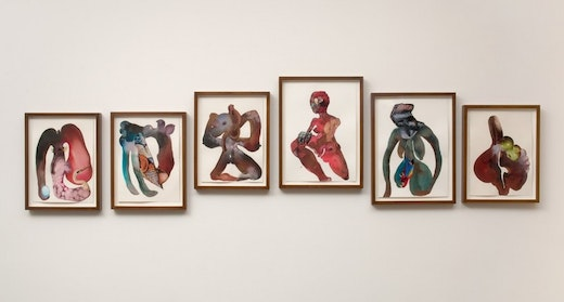 This is an artwork titled The evolution of mud mama from beginning to start by artist Wangechi Mutu made in 2008