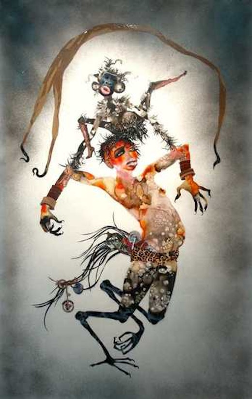 This is an artwork titled I Put a Spell on You by artist Wangechi Mutu made in 2005