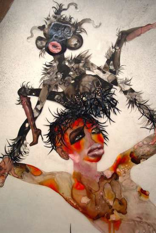 This is an artwork titled I Put a Spell on You (detail) by artist Wangechi Mutu made in 2005